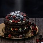 CHOCOLATE BERRIES CAKE